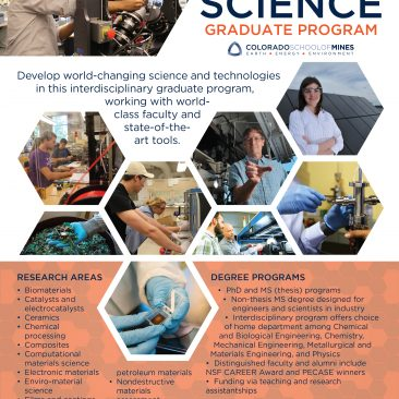 Materials Science program flyer