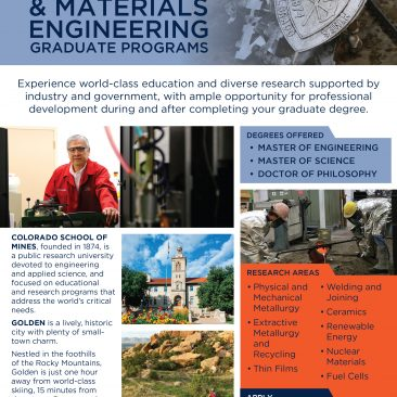 Flyer: Metallurgical and Materials Engineering graduate program